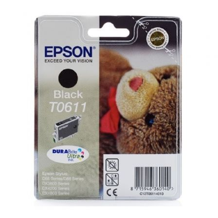 Cartucho de Tinta Original Epson T0611/ Negro