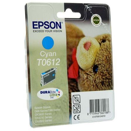 Cartucho de Tinta Original Epson T0612/ Cian Pigmentado