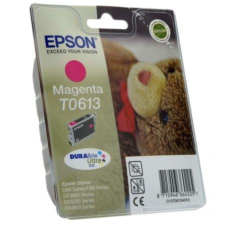 Cartucho de Tinta Original Epson T0613/ Magenta Pigmentado