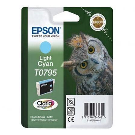 Cartucho de Tinta Original Epson T0795/ Cian Claro