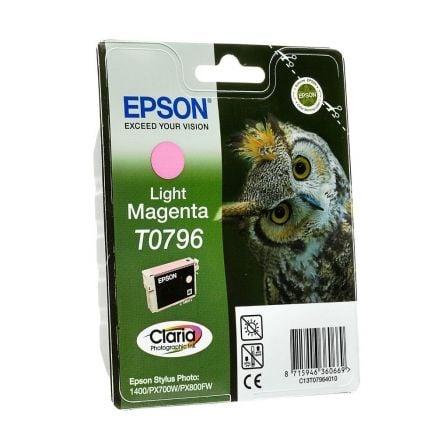 Cartucho de Tinta Original Epson T0796/ Magenta Claro