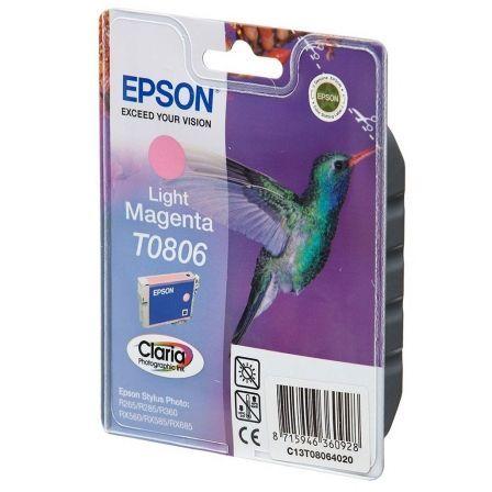 Cartucho de Tinta Original Epson T0806/ Magenta Claro