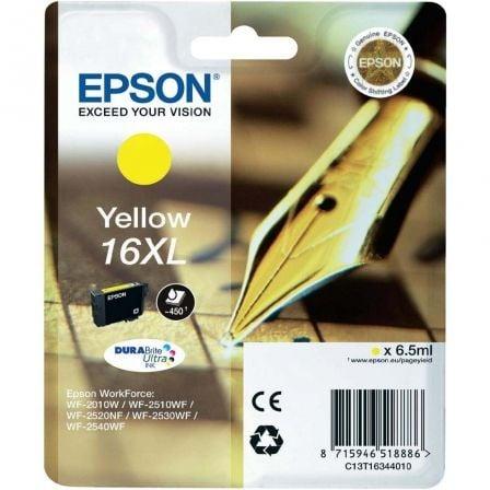 Cartucho de Tinta Original Epson nº16 XL Alta Capacidad/ Amarillo