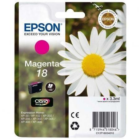 Cartucho de Tinta Original Epson nº18/ Magenta