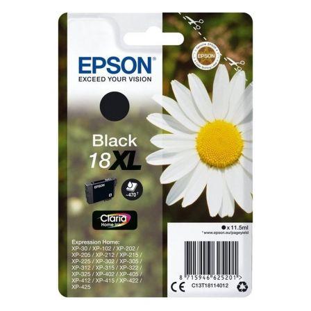 Cartucho de Tinta Original Epson nº18 XL Alta Capacidad/ Negro
