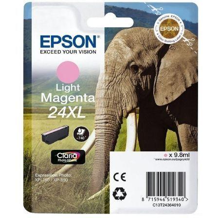 Cartucho de Tinta Original Epson nº24 XL Alta Capacidad/ Magenta Claro