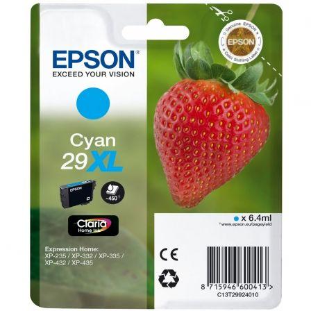 Cartucho de Tinta Original Epson nº29 XL Alta Capacidad/ Cian