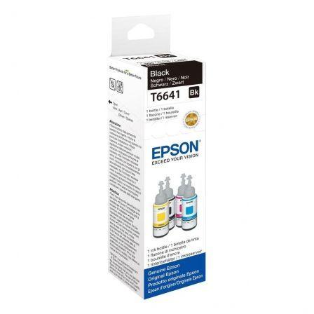 Botella de Tinta Original Epson T6641/ Negro