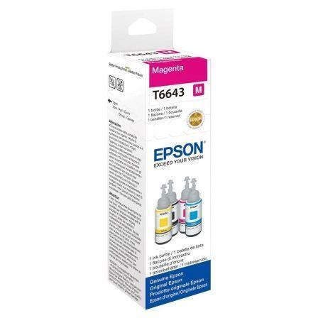 Botella de Tinta Original Epson T6643/ Magenta
