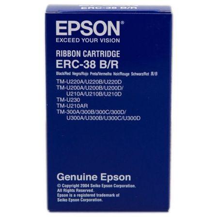 Cinta Nylon Epson ERC-38/ Negro/ Rojo