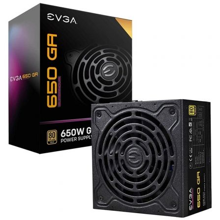 Fuente de Alimentación EVGA 650 GA Supernova/ 650W/ Ventilador 13.5cm/ 80 Plus Gold