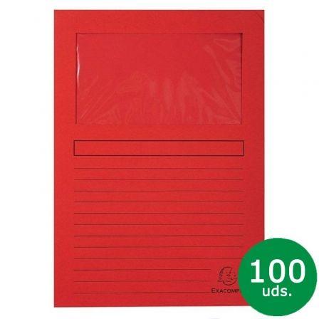 Subcarpeta Exaclair Exacompta Forever 50105E/ A4/ 100 unidades/ Roja