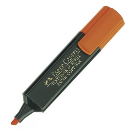 Marcador Fluorescente Faber Castell Textliner 48 154815/ Naranja