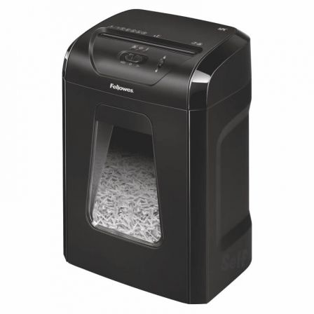 Destructora Fellowes 12C/ Corte en Partículas de 4 x 40mm/ Negra