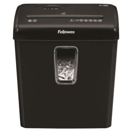 Destructora Fellowes P-30C/ Corte en Partículas de 4 x 34mm/ Negra