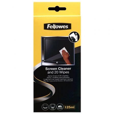 Kit Limpiador de Pantallas Fellowes 99701/ Spray 125ml + 20 Toallitas