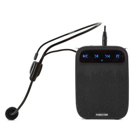 AMPLIFICADOR PORTÁTIL FONESTAR ALTA-VOZ - 18W MAX. - MICRÓFONO DE CABEZA MANOS LIBRES - GRABADOR/REPRODUCTOR USB/MICROSD/MP3 - BAT 2000MAH