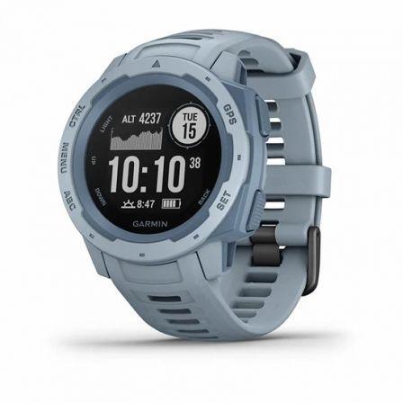 Garmin Instinct - azul cielo - reloj deportivo con banda - espuma del mar