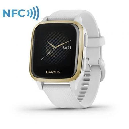 Garmin Venu Sq - blanco - reloj deportivo con banda - blanco
