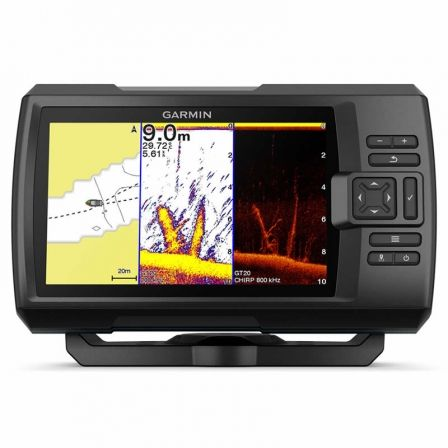 Sonda GPS Garmin Striker Plus 7CV/ GPS Integrado Mapas Quickdraw Contours/ Sonda CHIRP Clearvü con Transductor GT20-TM