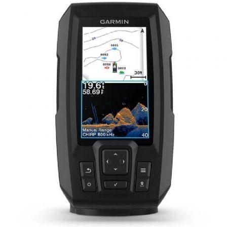 -Sonda GPS Garmin Striker Vivid 4CV GPS Integrado Mapas Quickdraw Contours/ Sonda CHIRP Clearvü con Transductor GT20-TM