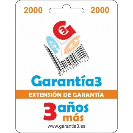 Extensión de Garantía 3 Años Más hasta 2000¤ PVP para Productos Electrónicos