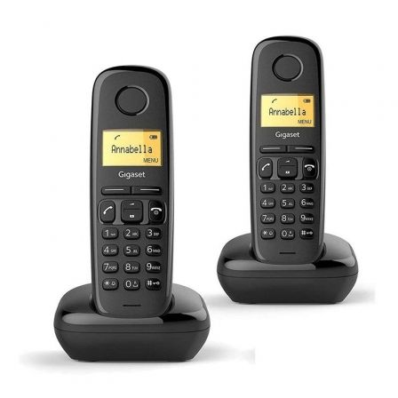 Teléfono Inalámbrico Gigaset A170/ Pack DUO/ Negro