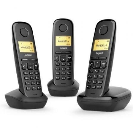Teléfono Inalámbrico Gigaset A170 Pack TRIO/ Negro