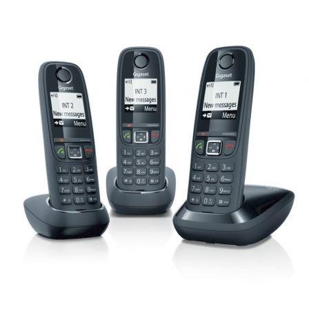 Teléfono Inalámbrico Gigaset AS405/ Pack TRIO/ Negro