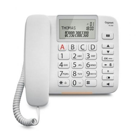 Teléfono Gigaset DL380/ Blanco