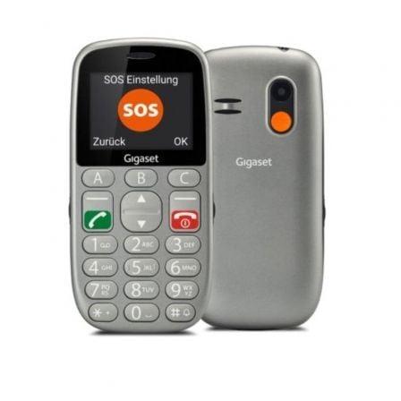 Teléfono Móvil Gigaset GL390 para Personas Mayores/ Gris
