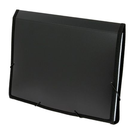 Carpeta Clasificadora Grafoplás 02960410/ Folio 245 x 330 x 35mm/ Negro
