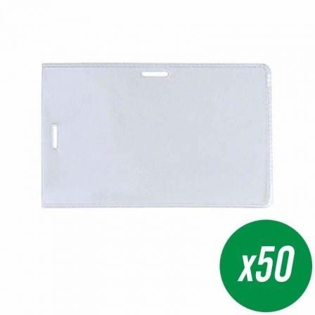 Portadistintivos para Pinza y Tira Grafoplás 09079300/ 55 x 95mm/ 50 uds