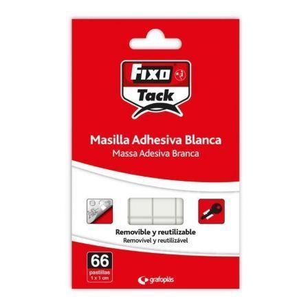 Masilla Adhesiva Grafoplás Fixo Tack/ 66 piezas/ Blanca