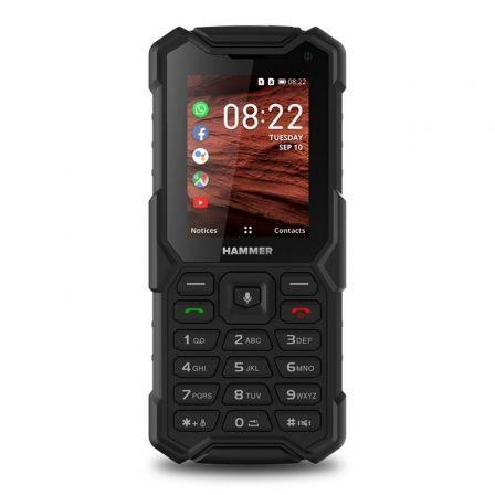 Teléfono Móvil Ruggerizado Hammer 5 Smart/ Negro