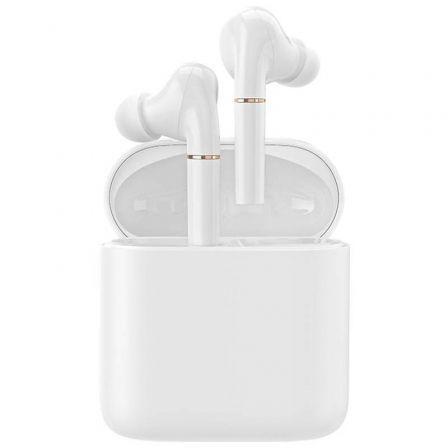 Auriculares Bluetooth Haylou T19 con estuche de carga/ Autonomía 5h/ Blancos