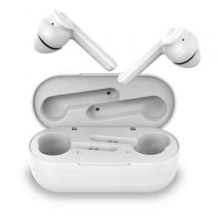 Auriculares Bluetooth Hiditec Vesta con estuche de carga/ Autonomía 8h/ Blancos