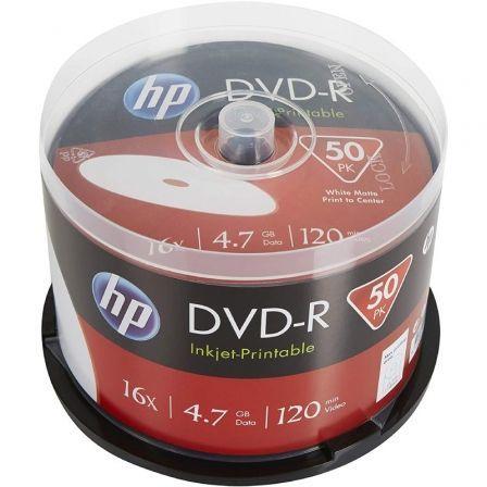 DVD-R HP DME00025WIP-3 Inkjet Printable 16X/ Tarrina-50uds