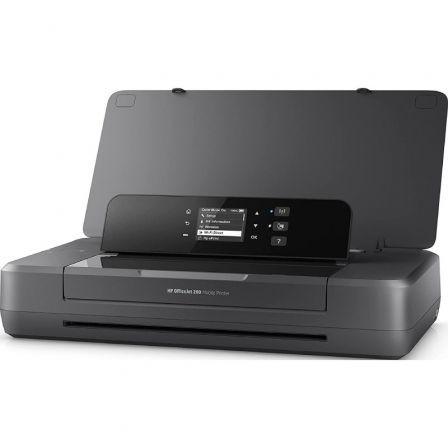 IMPRESORA PORTÁTIL HP WIFI OFFICEJET 200 - 20/19 PPM(CA) - PANTALLA MONOCROMA 5.08CM - USB - EPRINT - BATERÍA RECARGABLE - CART. 62 NEGRO/TRICOLOR