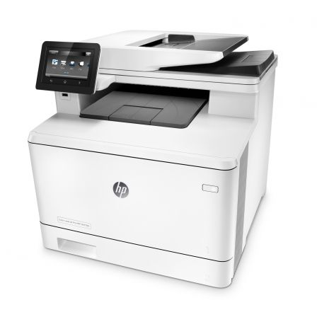 MULTIFUNCIÓN HP CON FAX LASERCOLOR PRO M477FDN - 28/28PPM -  DUPLEX - SCAN 1200PPP - ADF - USB - LAN - JETINTELIGENCE - TONERS CF410A/ X