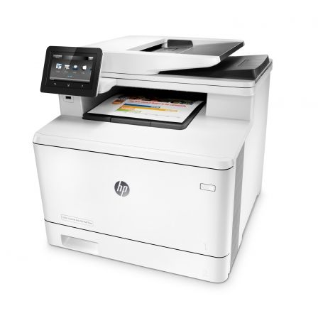 MULTIFUNCIÓN HP WIFI CON FAX LASERCOLOR PRO M477FNW - 28/28PPM - SCAN 1200PPP - ADF - USB - LAN - JETINTELLIGENCE - TONERS  410A/ X