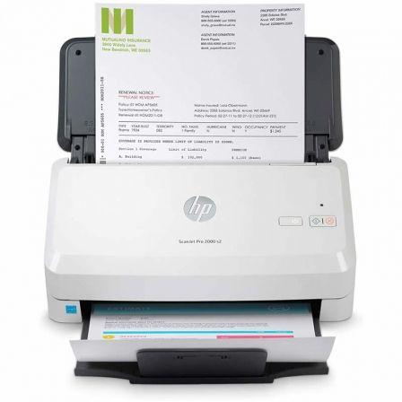Escáner Documental HP ScanJet Pro 2000 S2 con Alimentador de Documentos ADF/ Doble cara