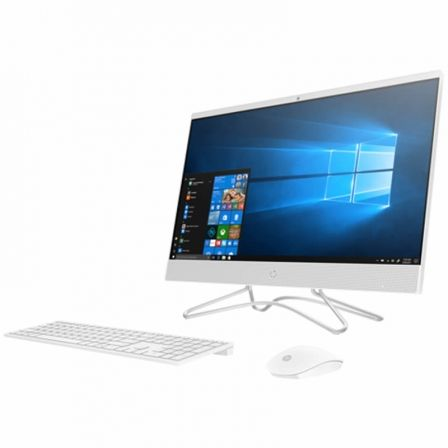 PC ALL IN ONE HP 24-F0341NS - I3-8130U 2.2GHZ - 8GB - 1TB - 23.8'/60CM FHD - WIFI - HDMI - BT - TEC+RATON - W10 - BLANCO NIEVE