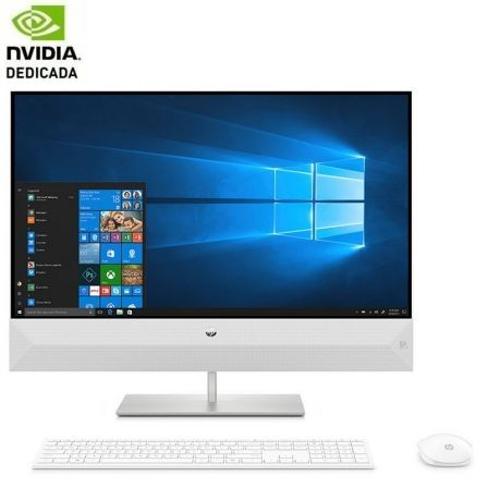 PC ALL IN ONE HP 24-XA0042NS - I7-9700T 2GHZ - 8GB - 1TB+512GB SSD - GEFORCE MX230 2GB - 23.8'/60.45CM FHD - WIFI - HDMI - TEC+RATON - NO ODD - W10