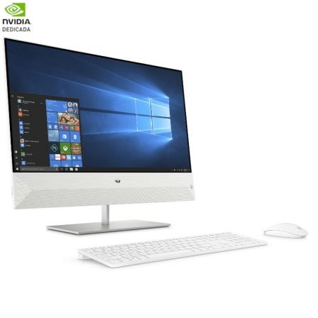 PC ALL IN ONE HP PAVILION 24-XA0906NS - I7-8700T 2.4GHZ - 8GB - 1TB+128GB SSD - GFORCE MX130 2GB - 23.8'/60.45CM FHD - TEC+RATON - W10 - BLANCO NIEVE