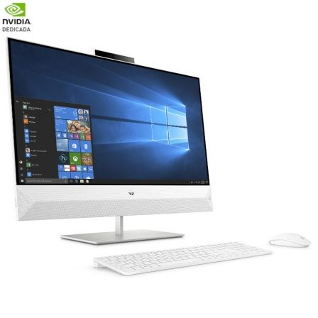 PC ALL IN ONE HP PAVILION 27-XA0902NS - I5-8400T 1.7GHZ - 8GB - 1TB+128GB SSD - GFORCE MX130 2GB - 27'/68.8CM FHD - TEC+RATON - W10 - BLANCO NIEVE