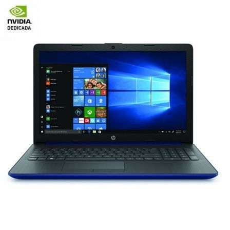 PORTÁTIL HP 15-DA0233NS - I3-7020U 2.3GHZ - 8GB - 256GB SSD - GEFORCE MX110 2GB - 15.6'/39.6CM HD - HDMI - BT - NO ODD - W10 - AZUL LUMIERE