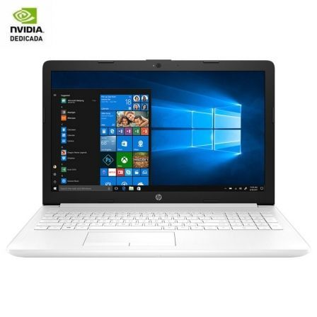 PORTÁTIL HP 15-DA1064NS - I7-8565U 1.8GHZ - 8GB - 256GB SSD - GEFORCE MX130 2GB - 15.6'/39.6CM HD - HDMI - BT - NO ODD - W10 - BLANCO NIEVE