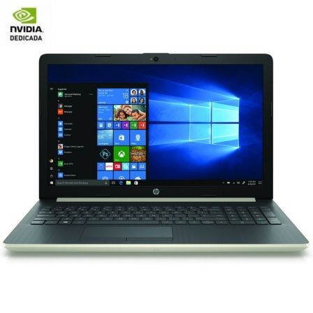 PORTÁTIL HP 15-DA1076NS - I7-8565U 1.8GHZ - 8GB - 1TB - GEFORCE MX130 4GB - 15.6'/39.6CM HD - HDMI - BT - NO ODD - W10 - ORO PÁLIDO