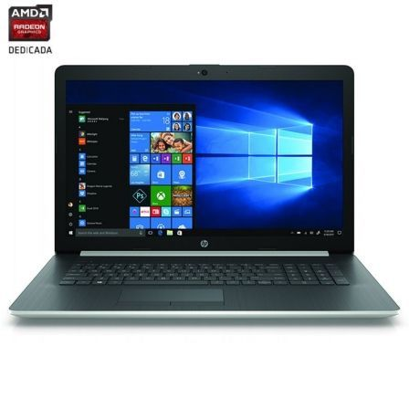 PORTÁTIL HP 17-BY0011NS - I3-7020U 2.3GHZ - 8GB - 256GB SSD - AMD RADEON 520 2GB - 17.3'/43.9CM HD - DVD RW - HDMI - BT - W10 - PLATA NATURAL